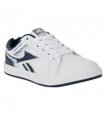 Vostro White Navy Blue Casual Shoes for Men - VSS0161